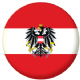 Austria Eagle Country Flag 58mm Keyring